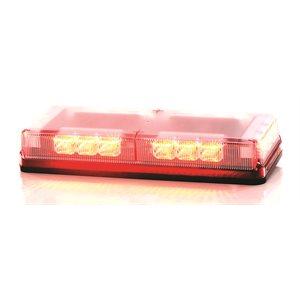 """Mini-barre G6 ProSignal 3 DEL ambre """"REFLECTOR"""" avec dôme clair, montage permanent et fils nus"""