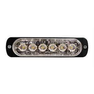 """Module 6 DEL Blanc à profil mince avec montage en surface et """"bezel"""" noir"""