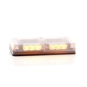"""Mini barre G6 ProSignal 3 DEL ambre """"REFLECTOR"""" avec dôme clair, montage magnétique et prise briquet"""