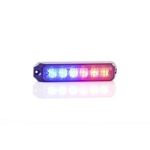 """Module ProSignal 6 DEL rouge et bleu """"mini stealth"""" avec montage en surface et """"bezel"""" noir"""
